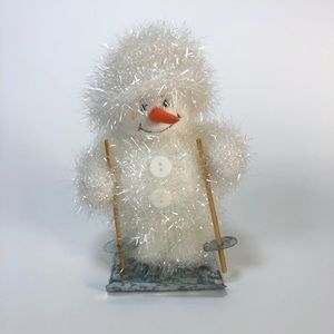 "Other - Plush snowman skiing doll 7"" tall"